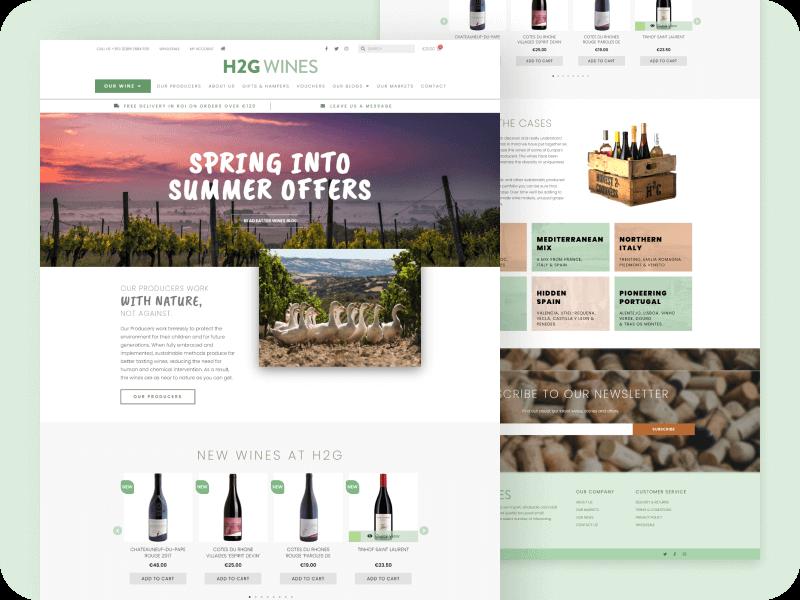 BlueStem - Websites - H2G Wines